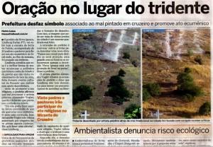 Repercussão na mídia da intervenção Tridente, de alexandre Vogler em Nova Iguaçu, RJ